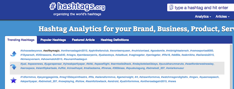 hashtag.org analytic tool